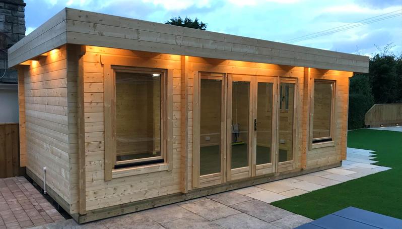 bournemouth modern log cabin