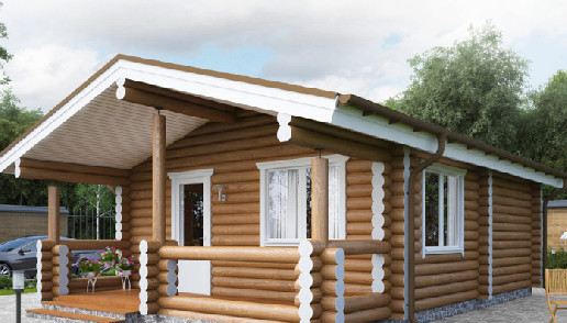 Living Log Home - 1 bedroom
