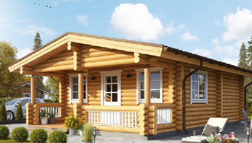 Living Log Home - 2 bedrooms