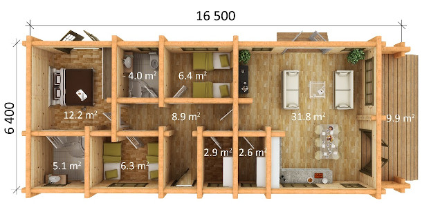 Static Home 3 bedrooms - dimensions